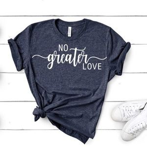 No Greater Love TShirt Navy NWT NEW Sz up to 2X